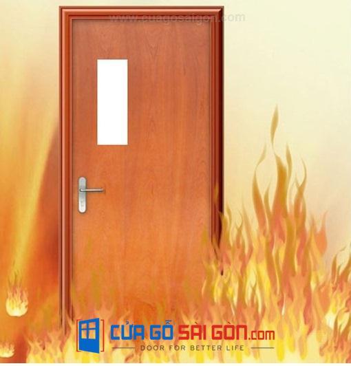 Cửa gỗ chống cháy ô kính tại cuagosaigon.com uy tín chất lượng