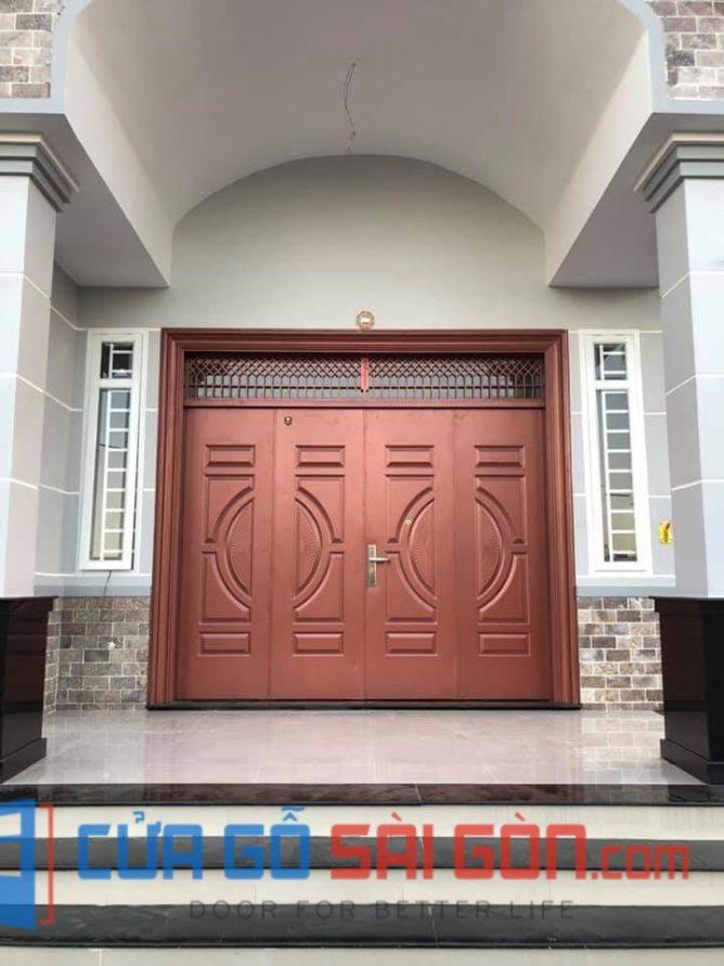 cửa thép vân gỗ SGD 18