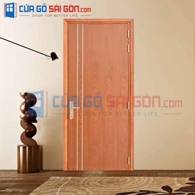 Cửa gỗ HDF VENEER HDF.VP1R2-SAPELE