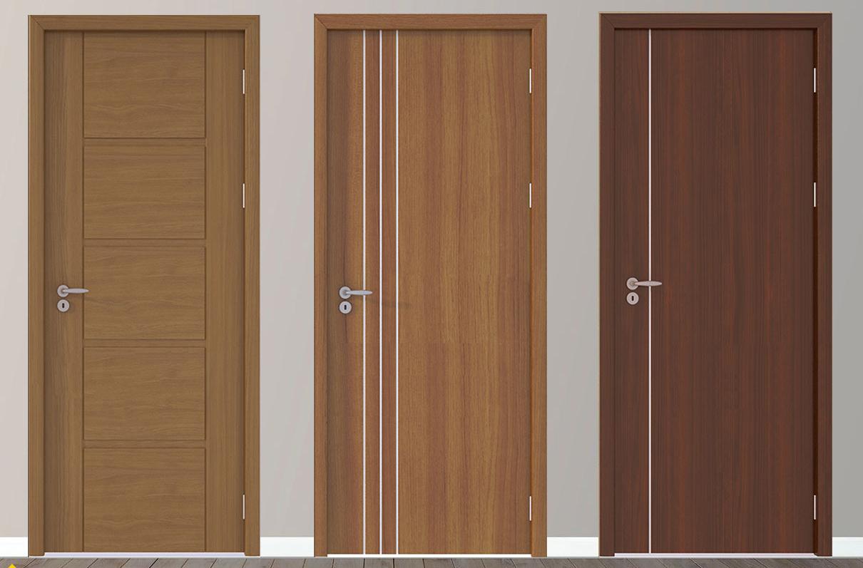 Họa tiết nhấn chỉ hiện đại của cửa nhựa gỗ composite