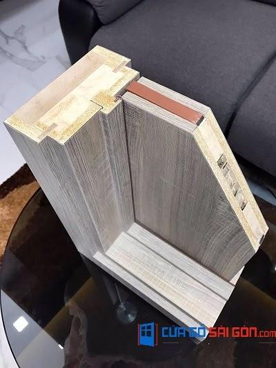 Lát cắt độ dày khung bao cửa gỗ chống cháy