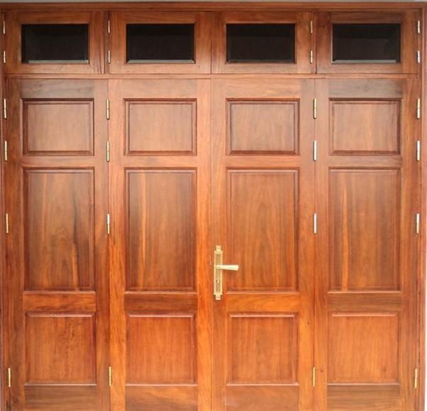 Cửa gỗ 4 cánh có giá trị thẩm mỹ cao