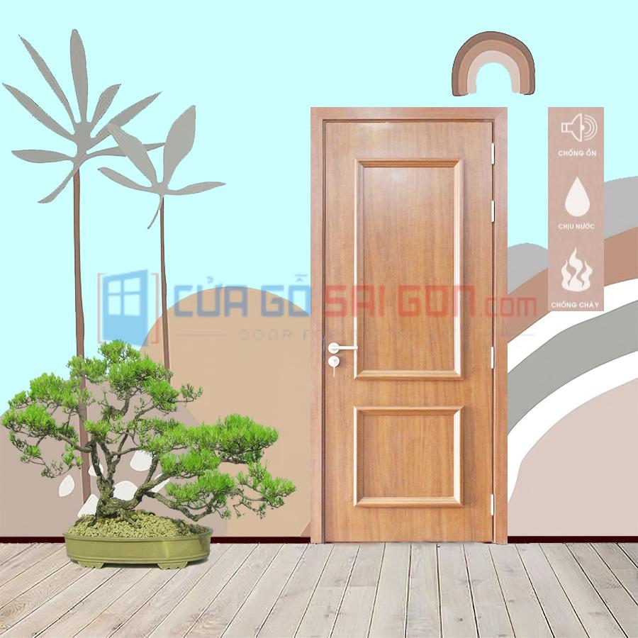 Cửa thông phòng bằng nhựa giả gỗ PVC