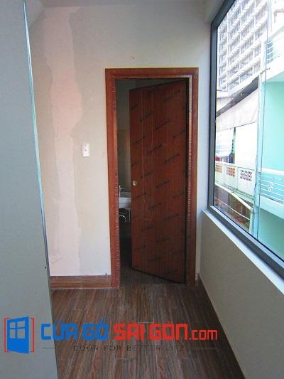 Hình ảnh thực tế công trình cửa phòng tắm cuagosaigon.com