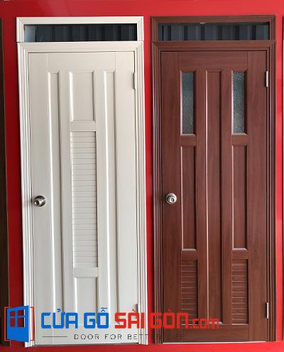 So sánh cửa nhà vệ sinh bằng gỗ và cửa nhà vệ sinh bằng nhựa