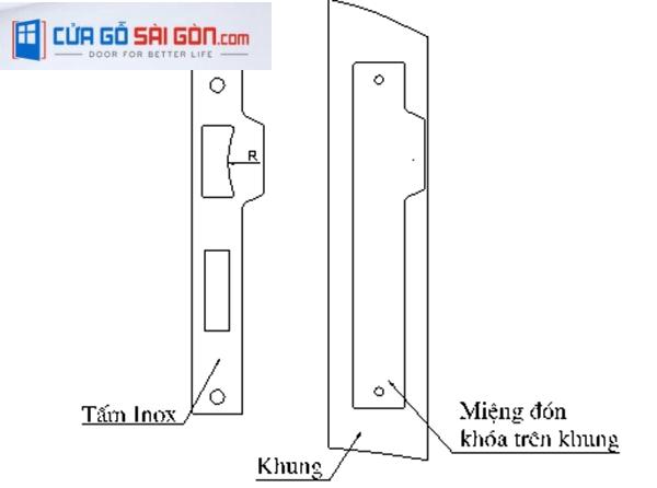 Lắp ráp phụ kiện cửa chống cháy