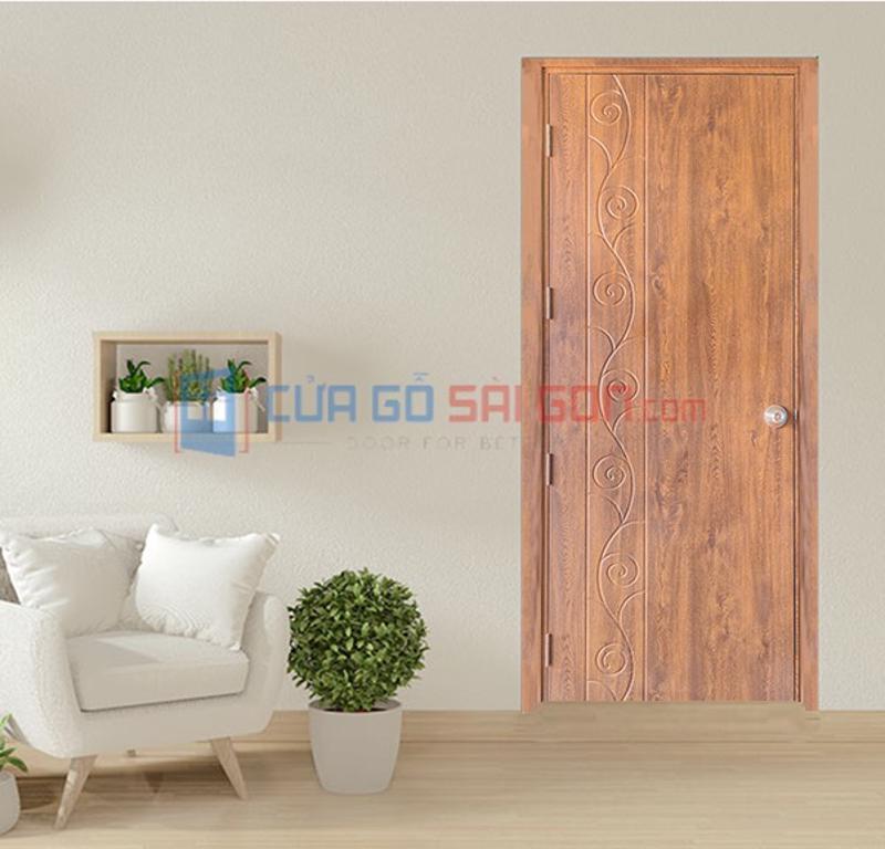 Cửa nhựa gỗ thông phòng