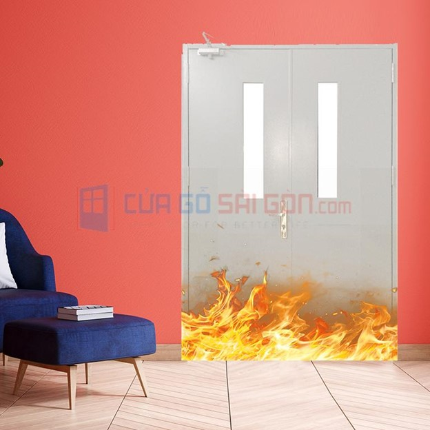 Cửa thép chống cháy 2P1G2: