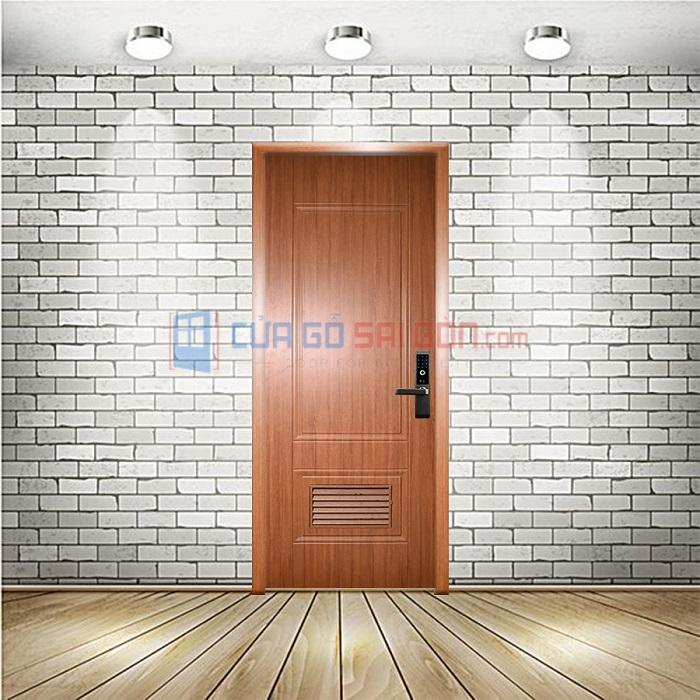 mẫu cửa nhựa ABS vân gỗ có lá sách (thông gió) KOS 609L- W0901